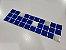 Faixa Pastilha Adesiva Resinada Aço Escovado 27x8 cm - AT159 - Azul - Imagem 4