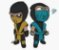 Enjoystick Mortal Kombat Scorpion and Subzero Chibi - Imagem 1