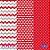 Feltro Estampado Composê Geométrico – Vermelho - Imagem 1
