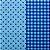 Feltro Estampado Santa Fé - Coleção Emoção - Compose Azul Lyon - Imagem 1