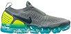 Tênis Nike Air Vapor Max Flyknit 2.0 - Cinza com Amarelo - Imagem 1
