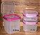 Tupperware Kit Modular Classic Rosa 3 peças - Imagem 1