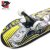 Skate Montado Black Sheep Profissional Black Yellow - Imagem 3