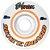 Roda para Skate Mentex 53mm Branca e Laranja ( jogo 4 rodas ) - Imagem 1