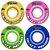 Roda para Skate Mentex 53mm Colorida ( jogo 4 rodas ) - Imagem 2