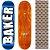 Shape Maple Importado Baker Brand 8.0 Foil Azul (Grátis lixa Jessup) - Imagem 1