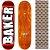 Shape Maple Importado Baker Brand 8.0 Foil Vermelho (Grátis lixa Jessup) - Imagem 1