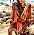 Saída de Praia Robe Femme Bohemian Decote em  V - Imagem 4