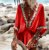 Saída de Praia Robe Femme Bohemian Decote em  V - Imagem 1