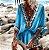 Saída de Praia Robe Femme Bohemian Decote em  V - Imagem 3