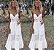 Vestido Delicado ou Saída de Praia Estilo Boho com laçarote - Imagem 1
