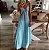 Vestido Longo Praiano Tie Dye Degradê - Imagem 1