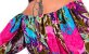 Vestido Tipo Túnica Floral Ombro a Ombro Bordado Turquesa - Imagem 7