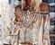 Blusa Feminina Leve Ombro a Ombro Estampa Tatuagem Delicada - Imagem 2