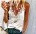 Regata Delicada T-shirt com Renda - Imagem 2