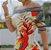 Vestido Feminino Ombro à Ombro Listrado Estampa Pássaro dos Trópicos - Imagem 2