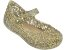 Sapatilha Mini Campana Zig Zag VI Dourada Metalizada - Melissa - Imagem 1