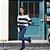 Calça Jeans Vuelo Barra Strass - Imagem 1