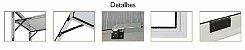 Janela Maxim-ar em Alumínio Brilhante duas Seções Horizontal Vidro Canelado - Linha 25 Trifel - Imagem 3