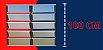 Basculante 2 Seções em Alumínio Mix Preto c/ Vidro Mini Boreal - Brimak Plus - Imagem 5
