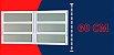 Basculante 2 Seções em Alumínio Branco c/ Vidro Mini Boreal - Brimak Elite - Imagem 3