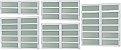 Basculante 2 Seções em Alumínio Branco c/ Vidro Mini Boreal - Brimak Elite - Imagem 1
