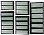 Basculante 1 Seção em Alumínio Preto c/ Vidro Mini Boreal - Brimak Elite - Imagem 1