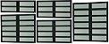 Basculante 2 Seções em Alumínio Preto c/ Vidro Mini Boreal - Brimak Elite - Imagem 1