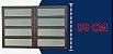 Basculante 2 Seções em Alumínio Corten c/ Vidro Mini Boreal - Brimak Elite - Imagem 4