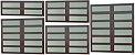 Basculante 2 Seções em Alumínio Corten c/ Vidro Mini Boreal - Brimak Elite - Imagem 1