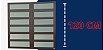 Basculante 2 Seções em Alumínio Corten c/ Vidro Mini Boreal - Brimak Elite - Imagem 6