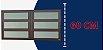 Basculante 2 Seções em Alumínio Corten c/ Vidro Mini Boreal - Brimak Elite - Imagem 3