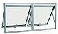 Janela Maxim-ar em Alumínio Brilhante duas Seções Horizontal Vidro Mini Boreal - Linha 25 Top Esquadrisul - Imagem 1
