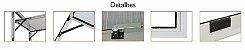 Janela Maxim-ar em Alumínio Branco uma Seção com Grade Vidro Mini Boreal - Linha 25 Trifel - Imagem 2