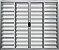 Janela Veneziana 6 Fls Sem Grade Alumínio Brilhante - SPJ Modular - Imagem 1