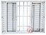 Janela Veneziana em Alumínio Branco 6 Folhas Com Grade Vidro Liso Incolor - JAP Caribe Max - Imagem 1