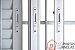 Janela Veneziana em Alumínio Branco 6 Folhas Com Grade Vidro Liso Incolor - JAP Perfecta Max - Imagem 3