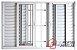 Janela Veneziana em Alumínio Branco 6 Folhas Com Grade Vidro Liso Incolor - JAP Perfecta Max - Imagem 2
