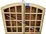Janela Veneziana em Madeira Cedro Arana 4 Folhas de Abrir (Giro) com Ferragens em Arco sem Vidro - Batente de 14 Cm Uniportas - Imagem 2
