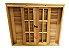 Janela Veneziana em Madeira Cedro Arana Reto com Ferragens Opção  Batente de 14 Cm - Uniportas - Imagem 2