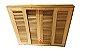 Janela Veneziana em Madeira Cedro Arana Reto com Ferragens Opção  Batente de 14 Cm - Uniportas - Imagem 4