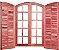 Porta Balcão Abrir Eucalipto Arco c/ Ferragem - Rick Esquadrias - Imagem 1