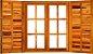 Janela de Abrir Padrão Imbuia Reta c/ Ferragem c/ Guarnição - Rick Esquadrias - Imagem 1
