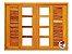 Janela Veneziana em Madeira Imbuia 6 Folhas Reto C/ Ferragem Montada No Batente 14 cm - Rick Esquadrias - Imagem 2