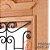Porta de Abrir 2 Folhas em Madeira Cedro Arana Realeza 001 Com Visor Montada no Batente de 14 Cm Sem Ferragem - Casmavi - Imagem 2