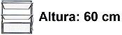 BASCULANTE 1 SECÇÃO ALUMÍNIO BRILHANTE REQ. 2,5 CM - LINHAECOSUL - ESQUADRISUL - Imagem 3