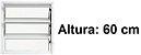 PRONTA ENTREGA - Janela Basculante em Alumínio Branco uma Seção Vidro Mini Boreal - Linha Moderna - Esquadrisul - Imagem 2