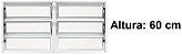 PRONTA ENTREGA - Janela Basculante em Alumínio Branco duas Seções Vidro Mini Boreal - Lux Esquadrias - Imagem 1