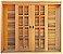 Janela Veneziana 6 Folhas Reto em Madeira Cedro Arana com Ferragens Vidro Quadriculado - Batente de 14 Cm Casmavi - Imagem 1