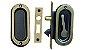 Porta Balcão em Madeira Padrão Cedro Arana 3 folhas Uma Fixa Reta com Veneziana Francesa Vidro Panorâmico e Ferragens Batente de 14 Cm - Casmavi - Imagem 2